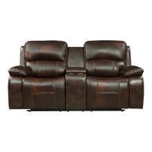 Power Double Reclining Love Seat with Center Console and USB Ports