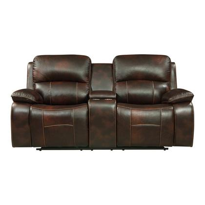 See Details - Power Double Reclining Love Seat with Center Console and USB Ports
