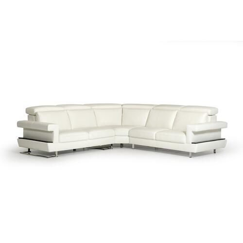 VIG Furniture - Estro Salotti Crosby - Italian Modern White Leather Sectional Sofa