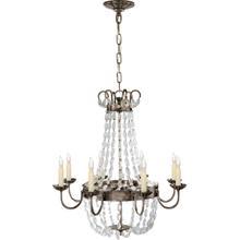 View Product - E F Chapman Paris Flea Market 8 Light 24 inch Sheffield Silver Chandelier Ceiling Light