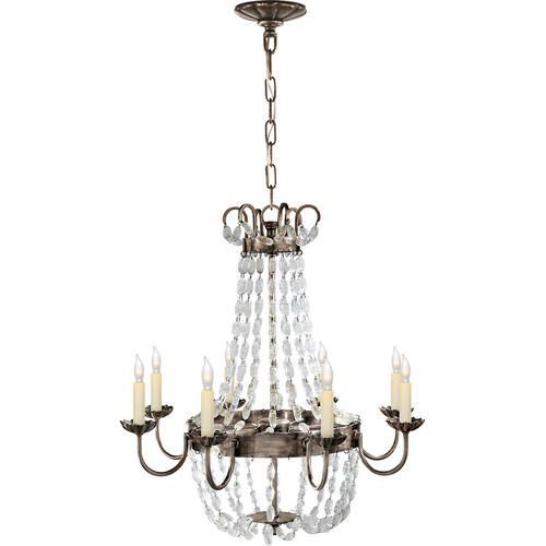 Visual Comfort - E F Chapman Paris Flea Market 8 Light 24 inch Sheffield Silver Chandelier Ceiling Light
