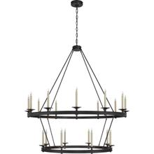 View Product - Chapman & Myers Launceton 20 Light 53 inch Bronze Two Tiered Chandelier Ceiling Light, Grande