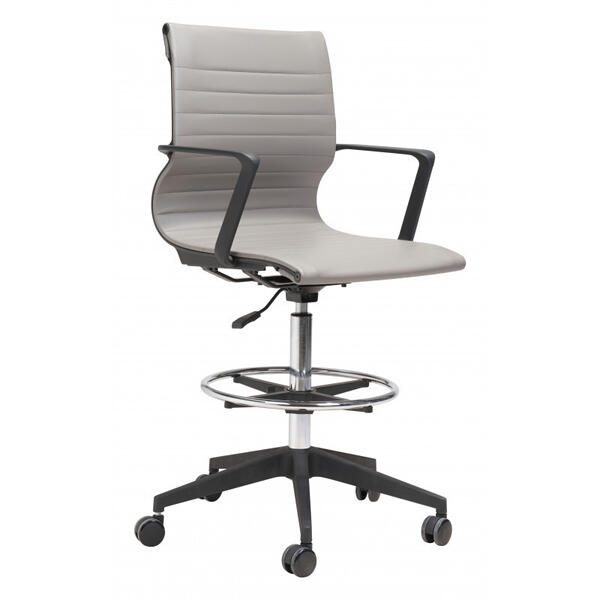 Stacy Drafter Office Chair Gray