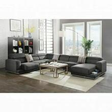 ACME Alwin Modular - Left Arm Facing Sofa - 53720 - Dark Gray Fabric