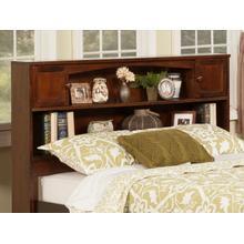 View Product - Newport Bookcase Headboard Full Walnut