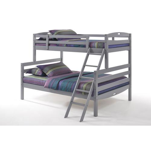 Night and Day Furniture - Sesame Twin Full Bunk in Gray Finish