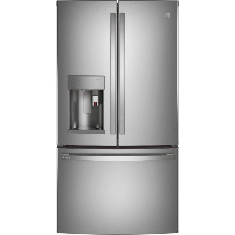 GE Profile™ Series ENERGY STAR® 27.7 Cu. Ft. Smart Fingerprint Resistant French-Door Refrigerator with Keurig® K-Cup® Brewing System