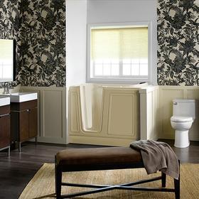 Acrylic Luxury Series 30x51 Left Drain Walk-in Bathtub with Air Spa System  American Standard - Linen