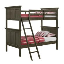 San Mateo Twin over Twin Bunk Bed  Gray