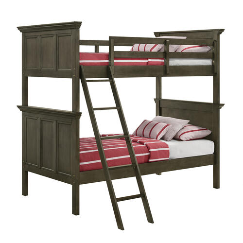 Intercon Furniture - San Mateo Youth Twin over Twin Bunk Bed  Gray
