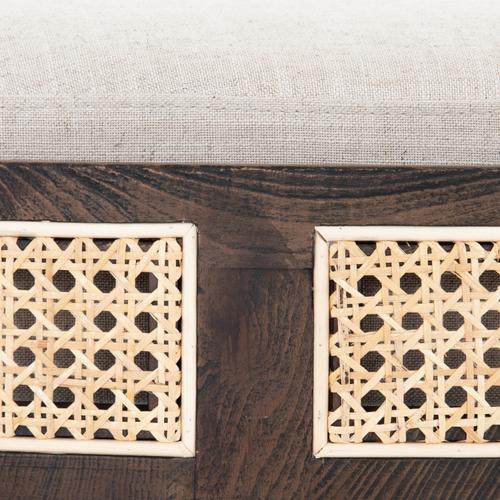 Savoy Parchment Cover Cooper Ottoman