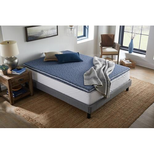 "American Bedding 3"" Hybrid Dual-Sided Mattress Topper with Micro Coils, King"