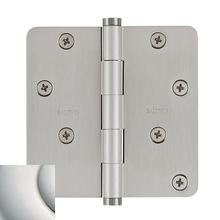 "Polished Nickel with Lifetime Finish 1/4"" Radius Corner Hinge"