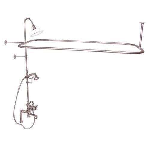 Code Rectangular Shower Unit - Cross / Polished Nickel