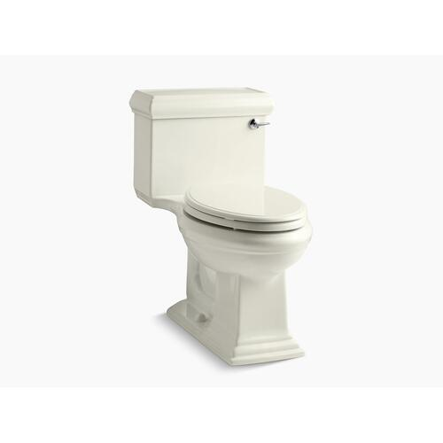 Biscuit One-piece Compact Elongated 1.28 Gpf Chair Height Toilet With Right-hand Trip Lever, and Quiet-close Seat