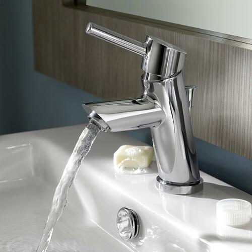 Serin Petite 1-Handle Monoblock Bathroom Faucet - Polished Chrome