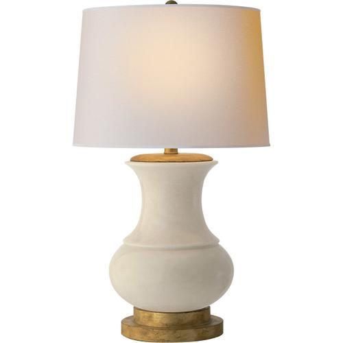 - E. F. Chapman Deauville 30 inch 150.00 watt Tea Stain Porcelain Decorative Table Lamp Portable Light