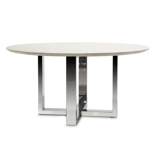 Round Marble Top Dining Table (2 Pc)