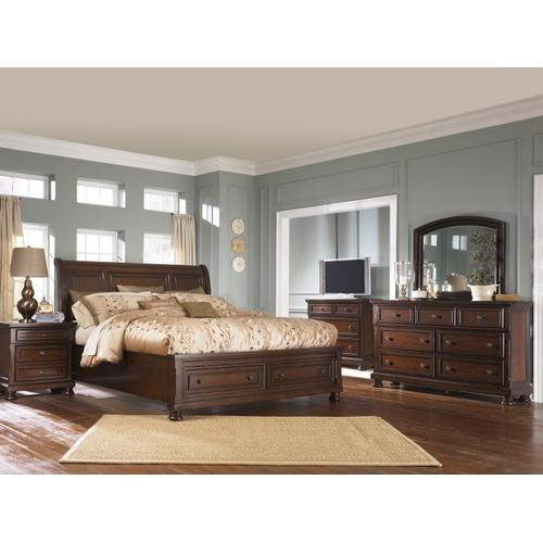 Porter King Storage Bed Rustic Brown