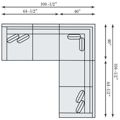 Bernhardt Interiors - Kelsey Sectional (2-Piece) in Mocha (751)