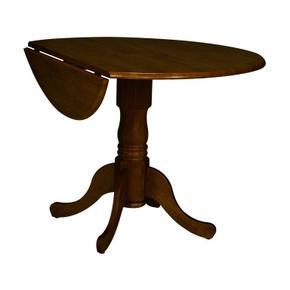 Round Dropleaf Pedestal Table in Espresso