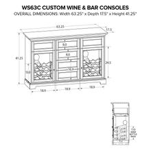 WS63C Wine & Bar Custom Console