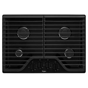 30 inch Gas Cooktop with Multiple SpeedHeat Burners - BLACK