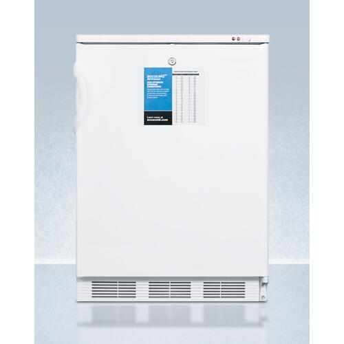 "24"" Wide -25 c All-freezer for Freestanding Use, Manual Defrost With A Lock and Probe Hole for User-installed Monitoring Equipment"