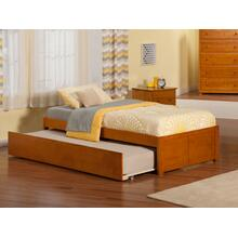 Concord Twin Flat Panel Foot Board with Urban Trundle Caramel Latte