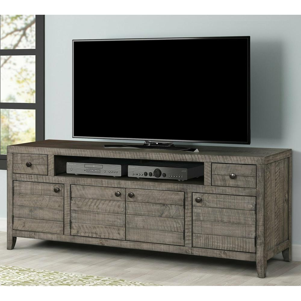 See Details - TEMPE - GREY STONE 76 in. TV Console