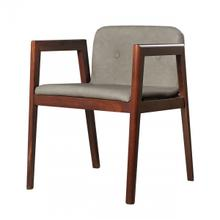 View Product - Modrest Avrum - Modern Dark Grey Eco-Leather Dining Chair (Set of 2)