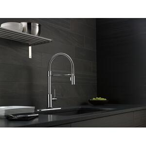 9659tdst In Chrome By Delta Faucet Company In New York City Ny Chrome Single Handle Pull Down Spring Spout Kitchen Faucet With Touch 2 O Technology