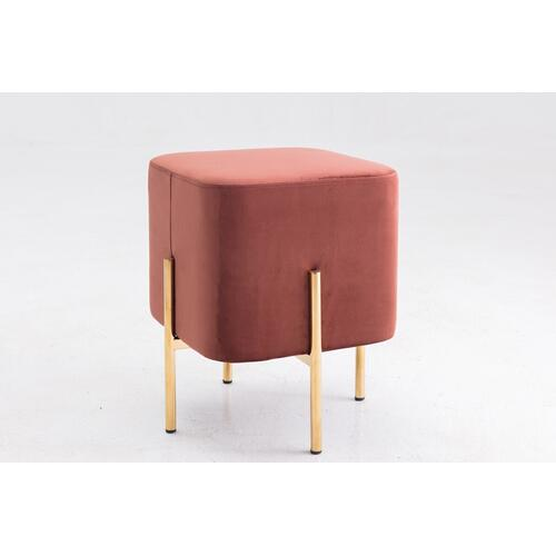 Gallery - Modrest Ranger Modern Copper Fabric Square Ottoman