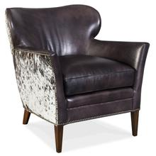 View Product - Kato Leather Club Chair w/ Salt Pepper HOH