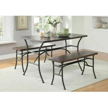 ACME Domingo 3Pc Pack Dining Set - 71665 - Walnut & Antique Black