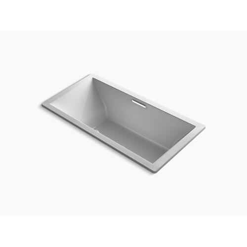 "Ice Grey 72"" X 36"" Drop-in Bath With Bask Heated Surface and Center Drain"