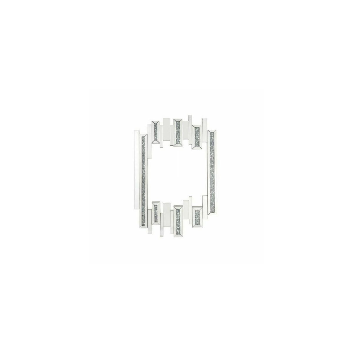 ACME Noralie Wall Decor - 97715 - Glam - Mirror, Glass, MDF, Faux Diamonds (Acrylic), LED - Mirrored and Faux Diamonds