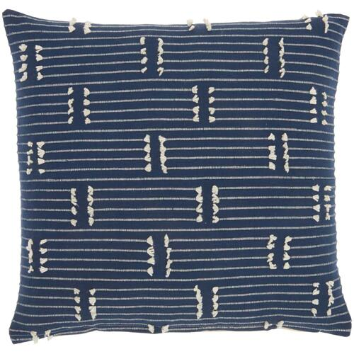 "Kathy Ireland® Home Pillow Ss300 Navy 18"" X 18"" Throw Pillow"