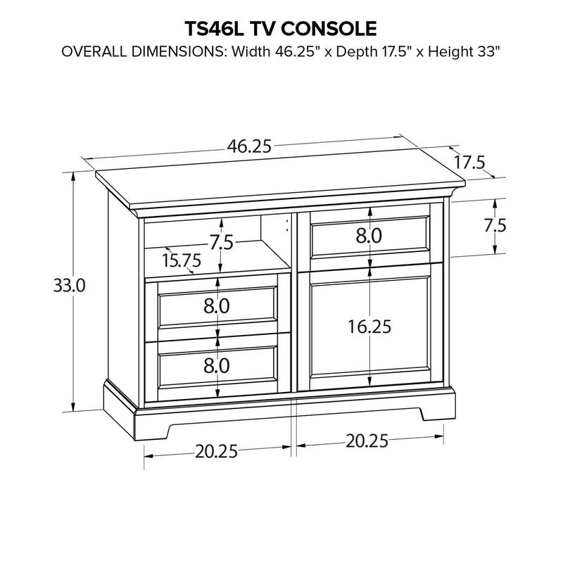 TS46L Custom TV Console