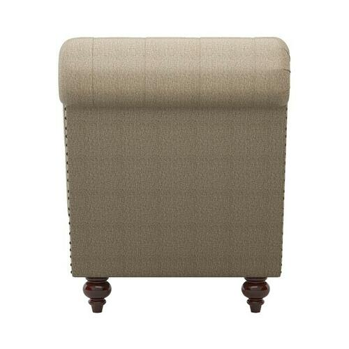 Homelegance - Chaise with Nailhead and Pillow