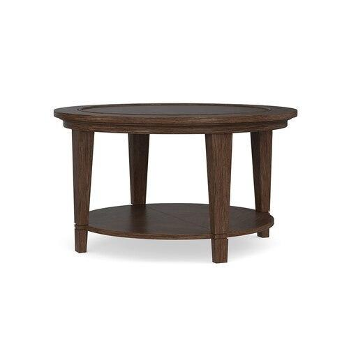 Lewiston Wood Top Round Cocktail Table