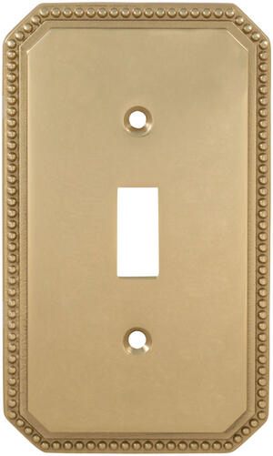 Single Beaded Switchplate in (US3 Polished Brass, Lacquered) Product Image