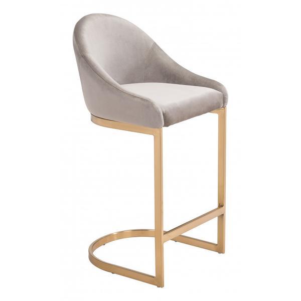 Scott Counter Chair Gray
