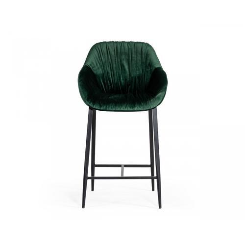 VIG Furniture - Modrest Katrina - Modern Green Fabric Bar Stool