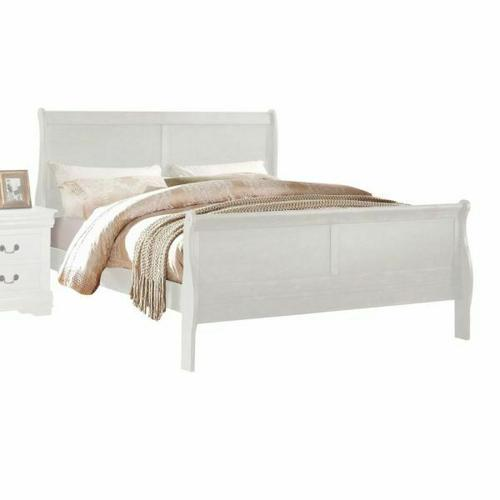 ACME Louis Philippe Eastern King Bed - 23827EK - White