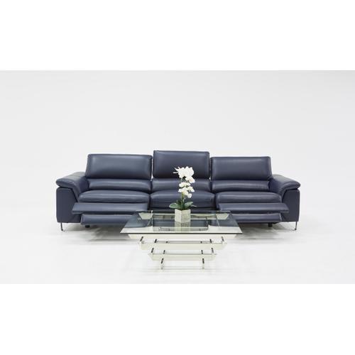 VIG Furniture - Divani Casa Maine Modern Blue Eco-Leather Sofa w/ Electric Recliners
