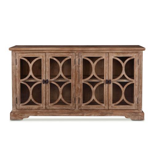 "San Rafael 67"" Glass Cabinet Antique Oak"