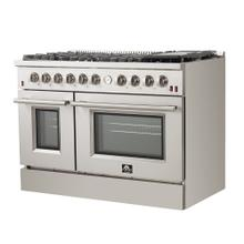 """View Product - Forno - Silver Professional 48"""" Freestanding Gas Range"""