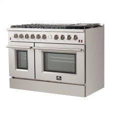 "Forno - Silver Professional 48"" Freestanding Gas Range"