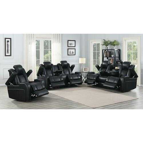 Delangelo Black Power Motion Three-piece Living Room Set